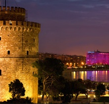 White Tower in Thessaloniki town, Greece.