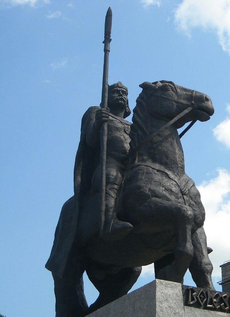Statue of King Bolesław Chrobry in Wroclaw, Poland