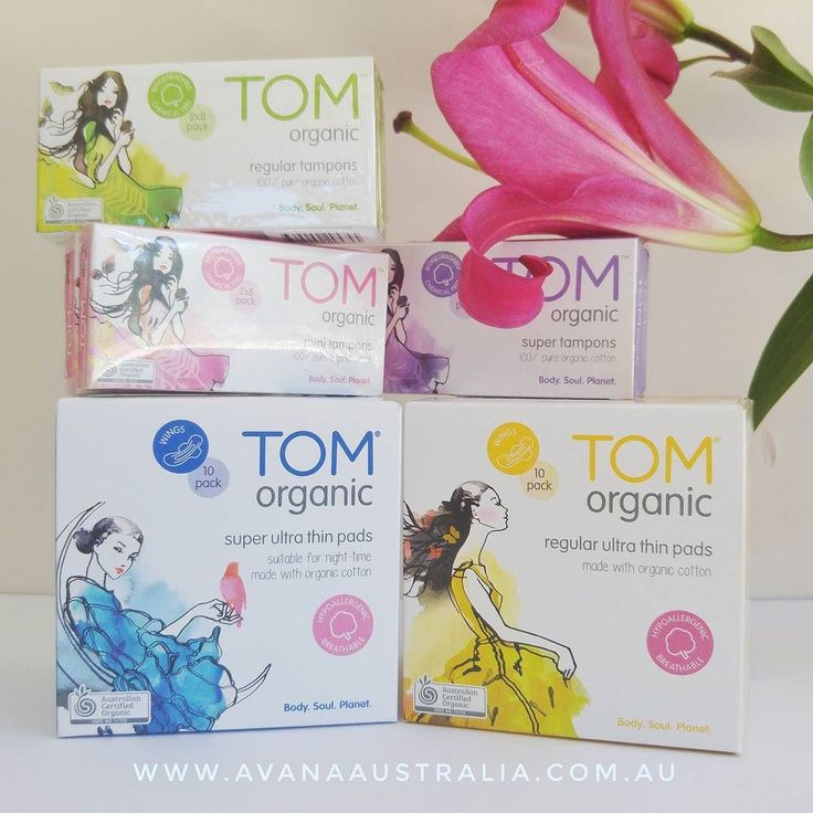 Tom Organics made from 100% organic cotton and is 100% biodegradable.  Switch over today to a safe toxic free tampons and pads.