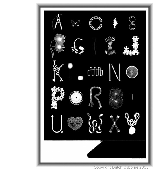 Photogram Alphabet