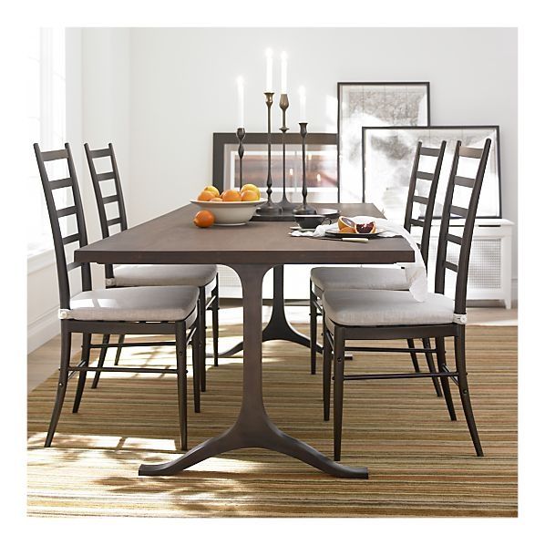 graham dining table c 90 seats 8 or squeezes 10 cast aluminum legs with an antiqued bronze. Black Bedroom Furniture Sets. Home Design Ideas