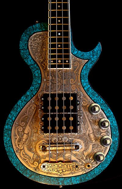 Teye Guitars ggcAseries blue guitar with guns and swirls Artist Guitars Australia - https://pro.beatport.com/artist/1000dayswasted/411731 #artist #guitars #australia rickenbacker, acoustic bass