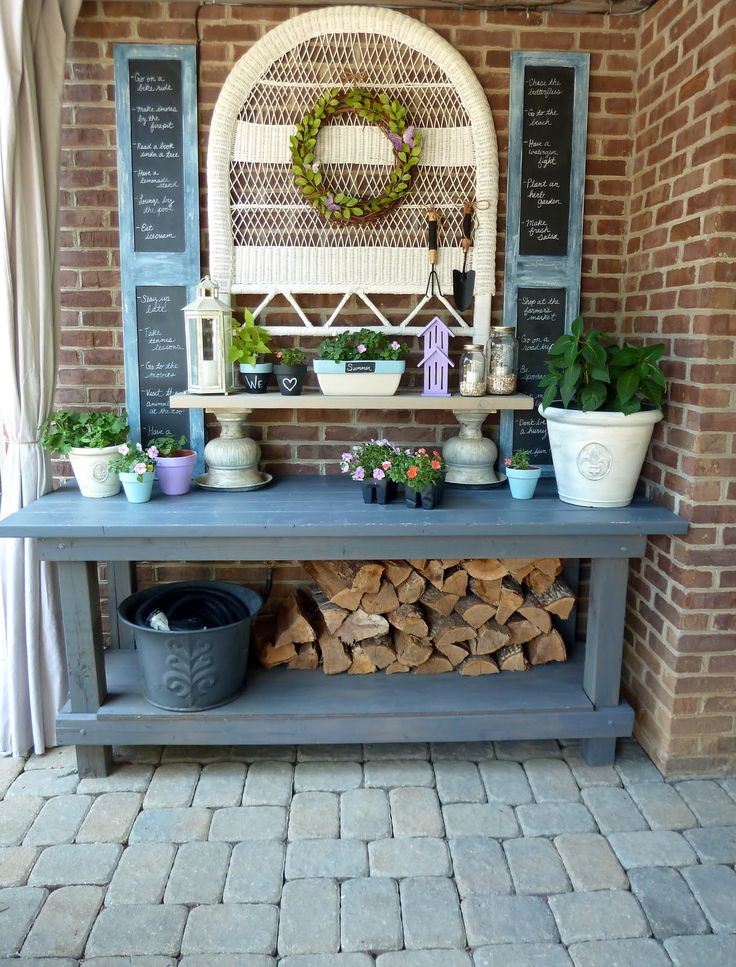 17 Best Images About Potting Bench Ideas On Pinterest Gardens Outdoor Buffet Tables And