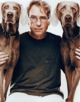 William Wegman and his Weimaraners - I met him and the dogs when I interned at the Williams College Museum of Art.