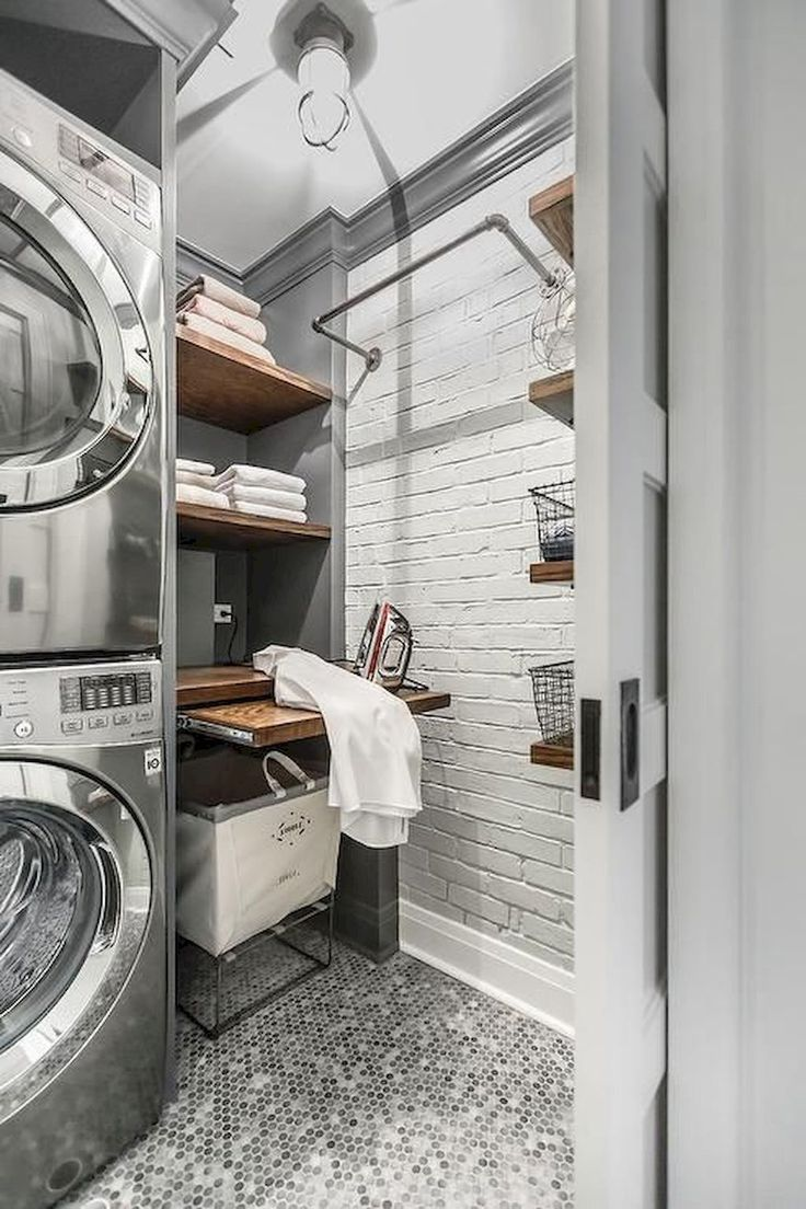 Nice 50 Cool Small Laundry Room Design Ideas https://rusticroom.co/1317/50-cool-small-laundry-room-design-ideas #smallroomdesignmodern
