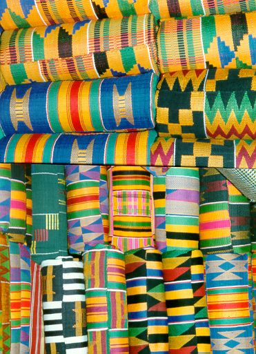 From ghananation.com: Kente Festivals [July/August] in Bonwire, Ejisu-Juaben District and signifies the commemoration of the origin of the Kente cloth, over 300 years ago. This Festival is colourful assembly of local chiefs and people of Bonwire. During this time participants adorn themselves with beautifully woven Kente clothes and designs, which they have created. Royal Akwasidae: held every six weeks at the Royal Palace of the Asante King, Otumfuo Osei Tutu II.""