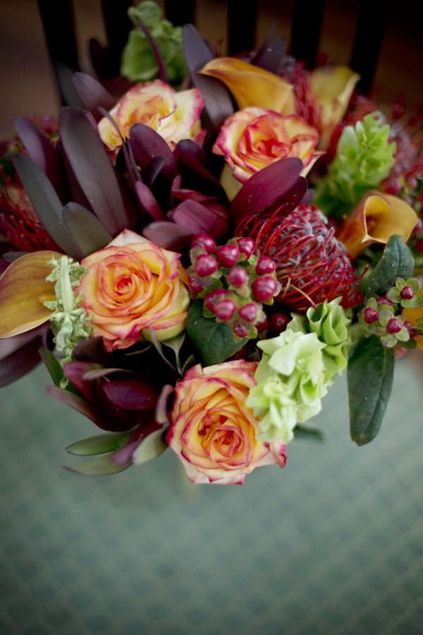 Autumn Wedding Bouquet|Photo by: christianburgephotography.com