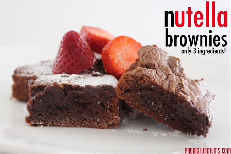 Nutella Brownies…say no more - these are so divine and such a special treat for the kids…and perhaps the adults too! YUM!