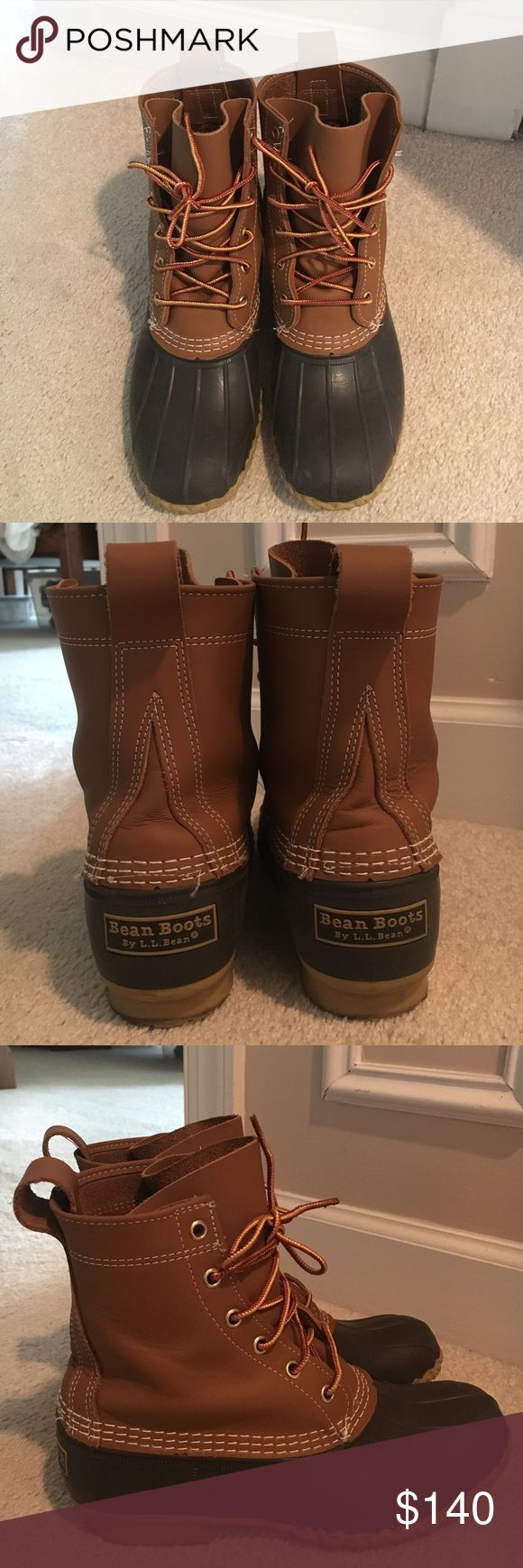L.L. Bean Boots Women's size 8 L.L. BEAN BOOTS!! Perfect gift for the holidays!! They usually end up on back order but these will arrive before Christmas! In perfect condition NEVER WORN!!!!!! Only tried on, in perfect condition! Size 8 but can fit size 7 L.L. Bean Shoes Combat & Moto Boots