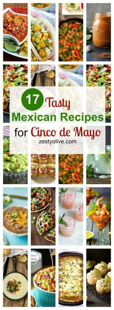 Here are 17 TastyMexican Recipes for Cinco de Mayoto help inspire your fiesta-related menu! APPETIZERS Cilantro Lime Salsa – (recipe and photoby Stacey Homemaker) Easy Restaurant Style White Queso (recipe and photo by the Cookie Rookie) Homemade Mexican Guacamole Recipe (recipe and photo by My Latina Table) Mexican Shrimp Cocktail (recipe and photo by From …Continue Reading...