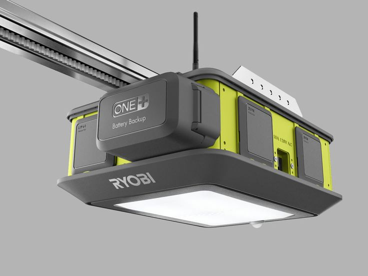 The Ryobi Ultra-Quiet Garage Door Opener is the basis of a—wait for it—garage entertainment system. A built-in Wi-Fi antenna allows it to communicate with an iOS and Android app, because this is 2016 and a garage door opener needs a mobile app. Firing up your phone allows you to see if the door's open or closed, open or close it, and mess around with its modular components.