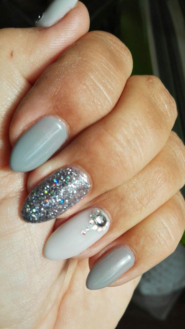 My nails..grey..