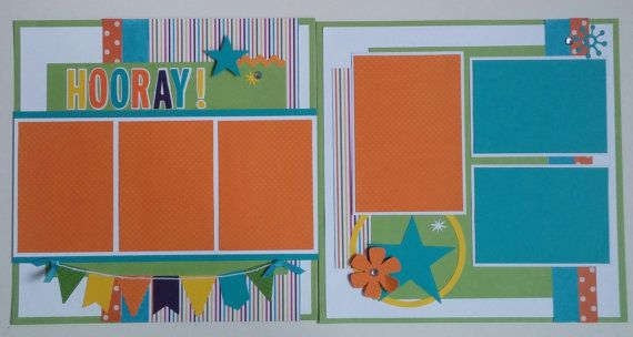 Hooray Birthday Graduation premade scrapbook by ohioscrapper