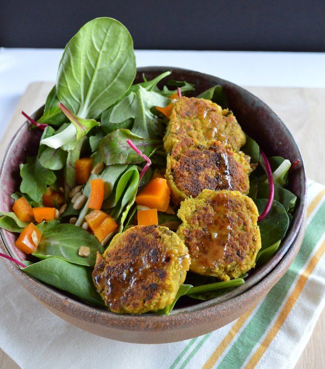 Curry Basil Falafel - Healthy Nibbles & Bits, blend everything in TM