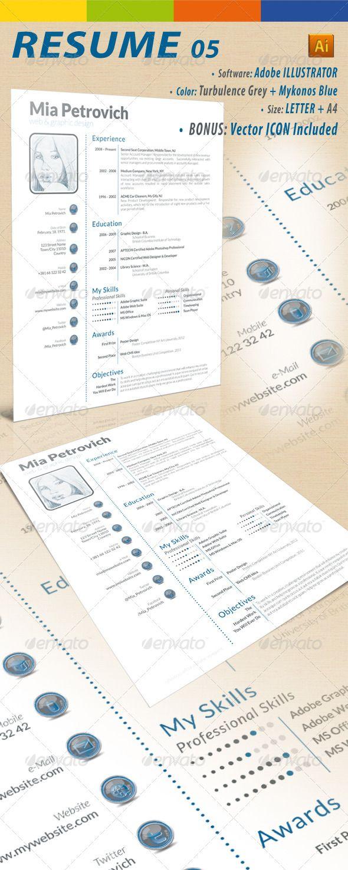 84 Best Resume Templates Images On Pinterest Resume Cv Resume