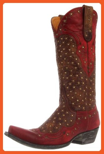 Old Gringo Women's Tabetha Western Boot,Brass/Red,9 B US - Boots for women (*Amazon Partner-Link)