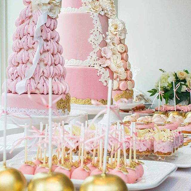 Pink and Gold Dessert Table   Dessert Table Inspiration