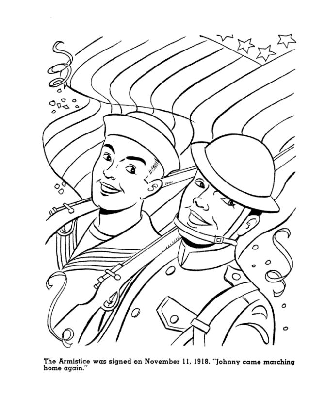 veterans day coloring page sheets for kids world war i armistice on veterans day holiday coloring with army air force navy marines coloring pages