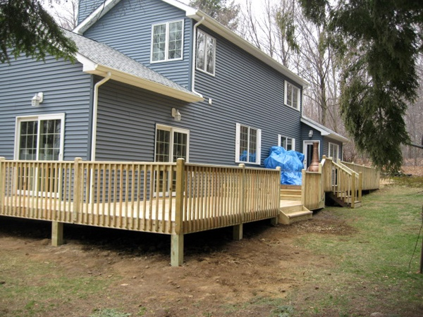 17 best images about house and deck on pinterest deck for Deck around house