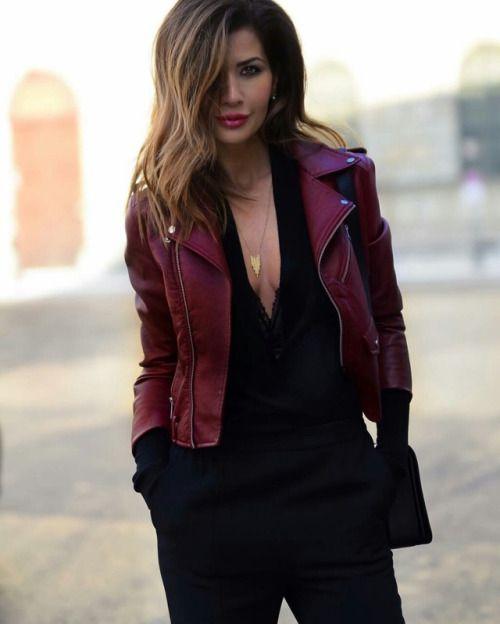 innovative burgundy jacket outfit 17