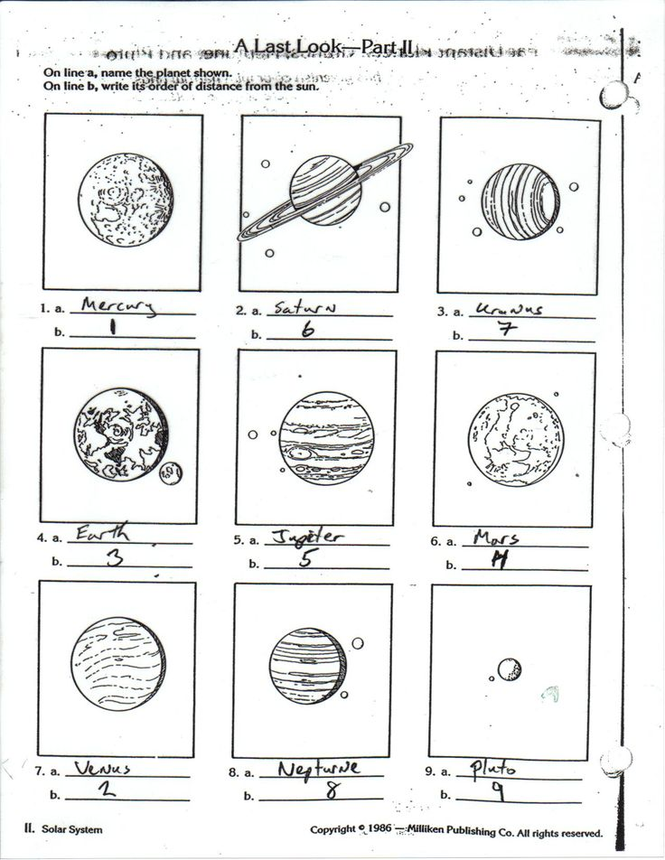 planets for kids worksheets - Google Search   Outer ...