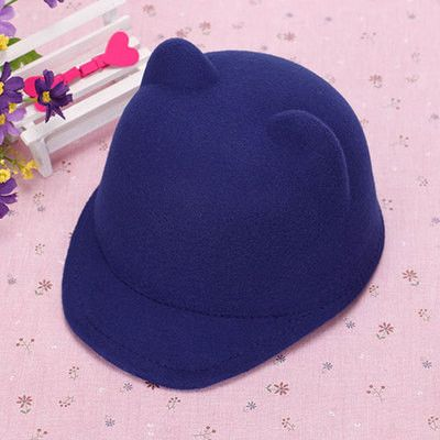 1 piece / Batch Winter Spring Women's Fashion Cat Ears Hat Devil Hats Constant Parent-Child Models Wool Hat Animal Hats