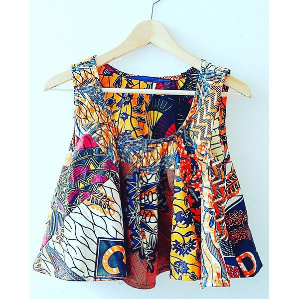Festival Ankara crop top by Sosomeshop on Etsy featuring polyvore