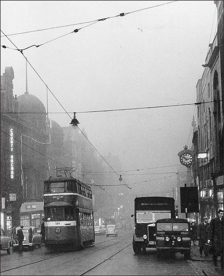 Leeds: Briggate. Winter. 1957.