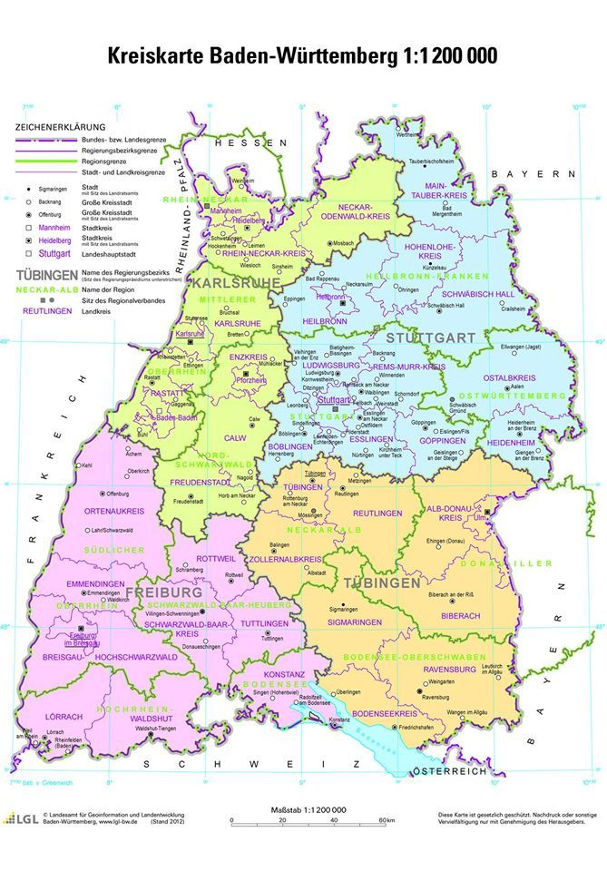 Kreiskarte Baden Württemberg