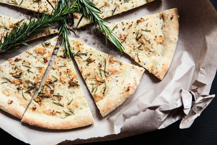 Crispy Rosemary & Garlic Focaccia | Berries and Spice
