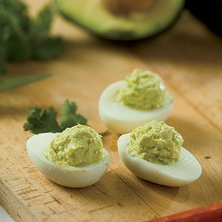 Give deviled eggs some unexpected, yet delicious flavor with this avocado lime deviled eggs recipe.