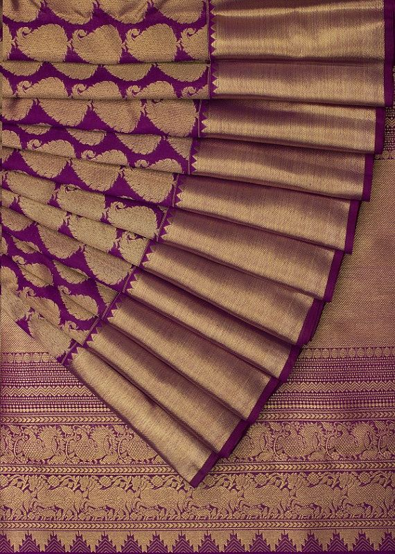 Incredible India Royal SareeHand Loomed Pure by Zevadhi on Etsy