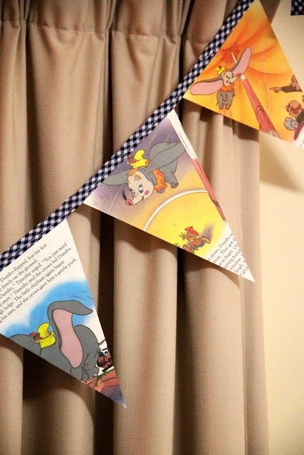 How to Make Bunting out of a Golden Book