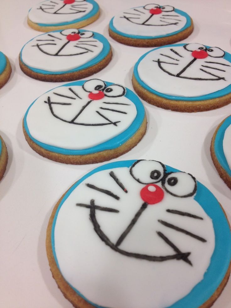 Emma's Cupcakes: Doraemon cookies / galletas doraemon