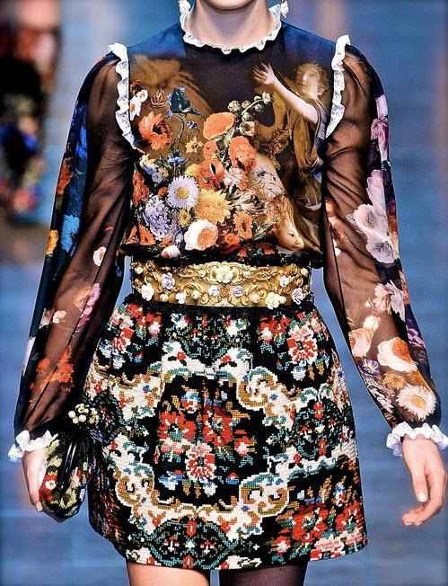 Chiffon and Ribbons, Dolce & Gabbana 2012