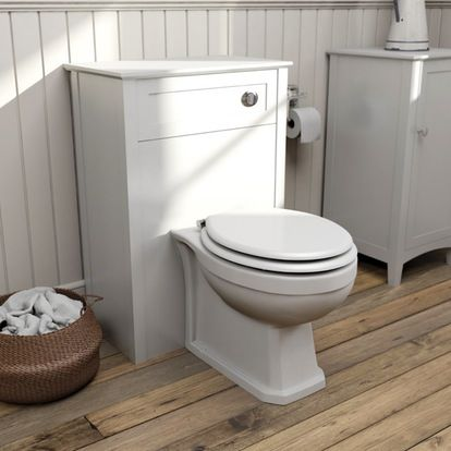 Camberley White back to wall toilet unit and Winchester back to wall toilet
