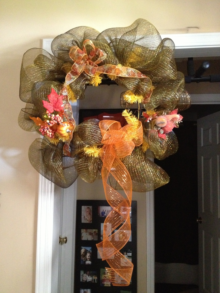 Patriotic Geo Mesh Wreath