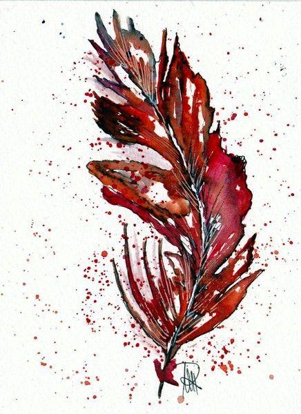 Feder - Original von abstrakte bilder und mehr von maria-mercedes auf DaWanda.com