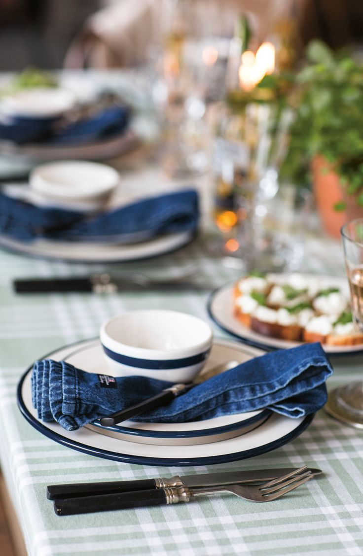 Denim napkins from our Icons Collection. Lexington Spring/Summer 2015.