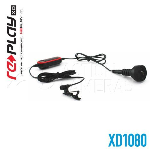 Replay XD (40-RPXD1080-EXT-MIC-KIT) External Audio Adapter and Microphone Kit. Element: Condenser. The Replay XD XD1080 external microphone is a miniature lavalier microphone with omni-directional condenser. Impedance: 1500 Ohms ± 30% ( at 1,000 Hz). 16,000 Hz. The frequency and sensitivity was developed to accurately reproduce the sound character of your work with fine detail and minimal noise. Type: Omnidirectional. Item Dimensions: width: 500, height: 600 hundredths-inches.