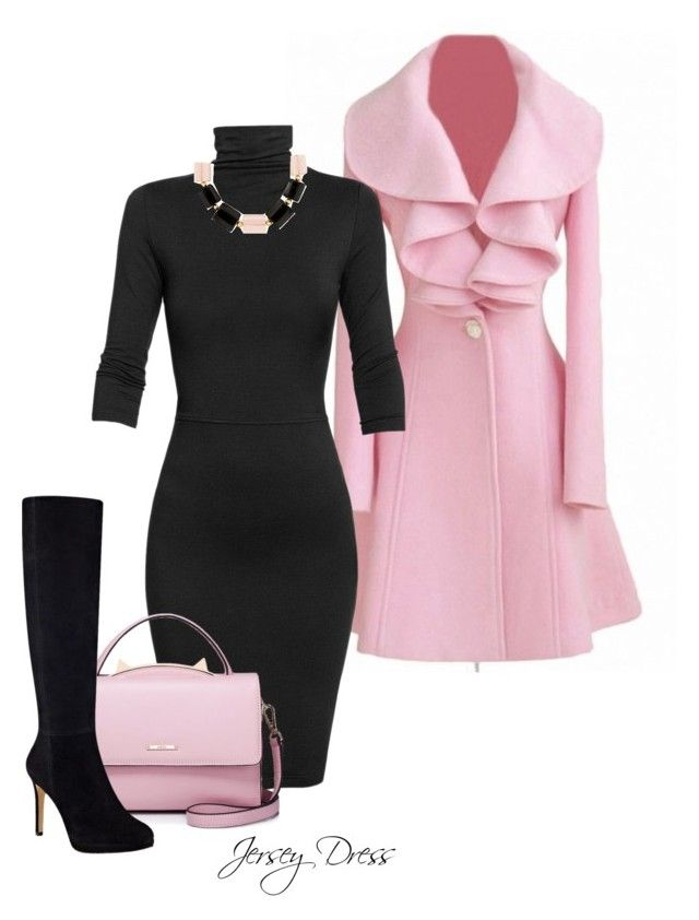 Jersey Dress by billi29 on Polyvore featuring Undress, Nine West, WithChic, DIANA BROUSSARD and Lilli Ann
