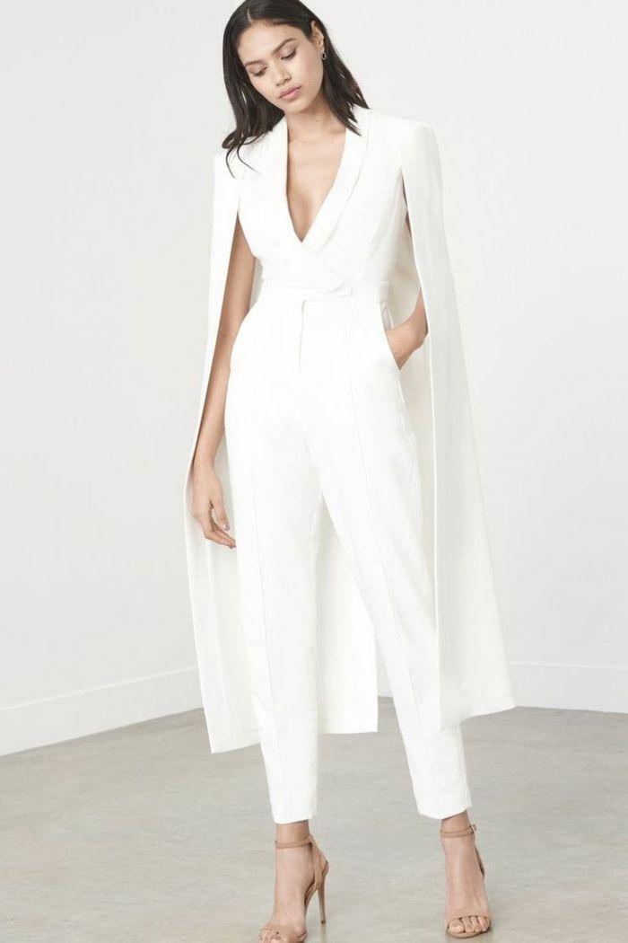 Combinaison blanche mariage : l'different idéale à la gown de mariée traditionnelle