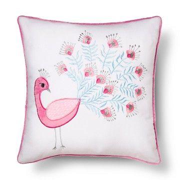 Kennedy Peacock Pillow 12x24 White - Sheringham Road™