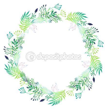 Акварель цветочный венок — Векторное изображение © DinaL #60123281
