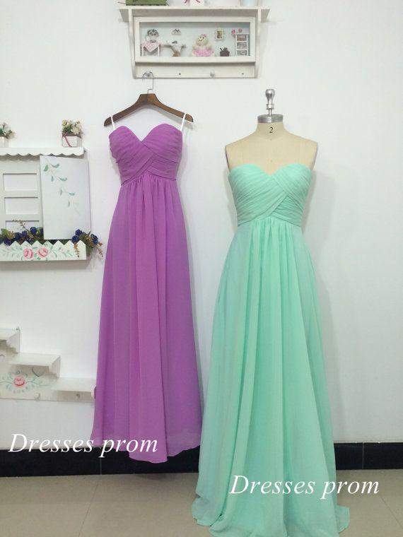 Lilas et menthe robe a-ligne Sweetheart étage par Dressesprom