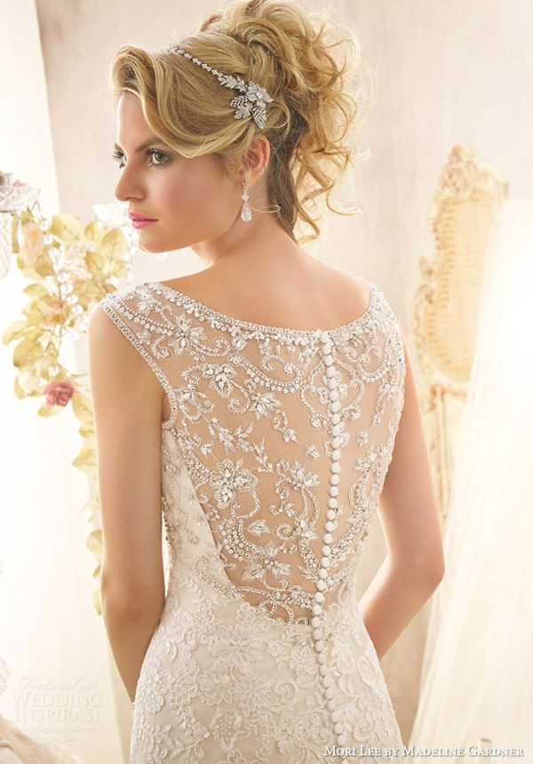 style 2601 intricate beaded back
