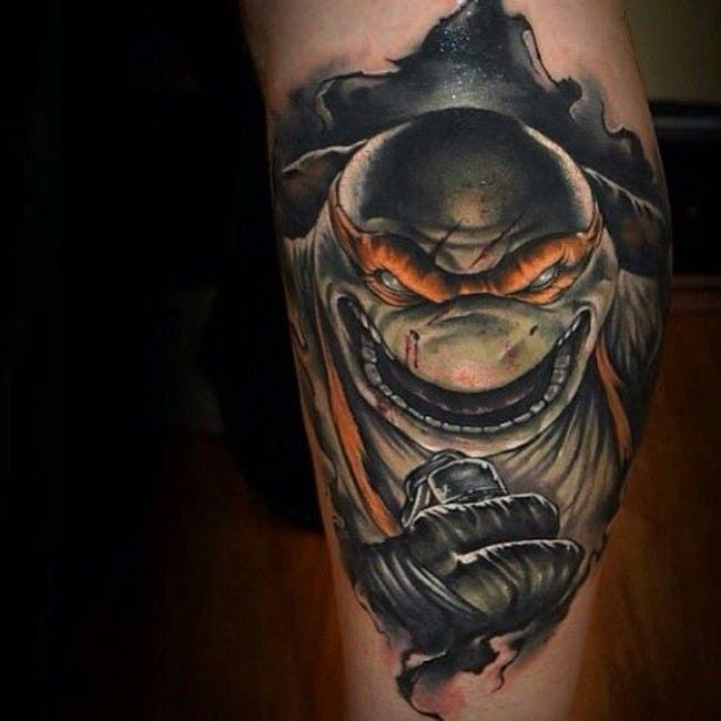 26 Awesome Tattoos Inspired by Teenage Mutant Ninja Turtles | ViraLuck