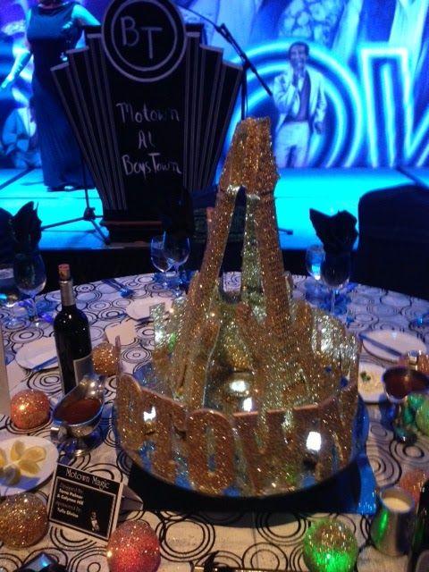 Tutu Divine Boys Town Motown Gala Table Centerpieces