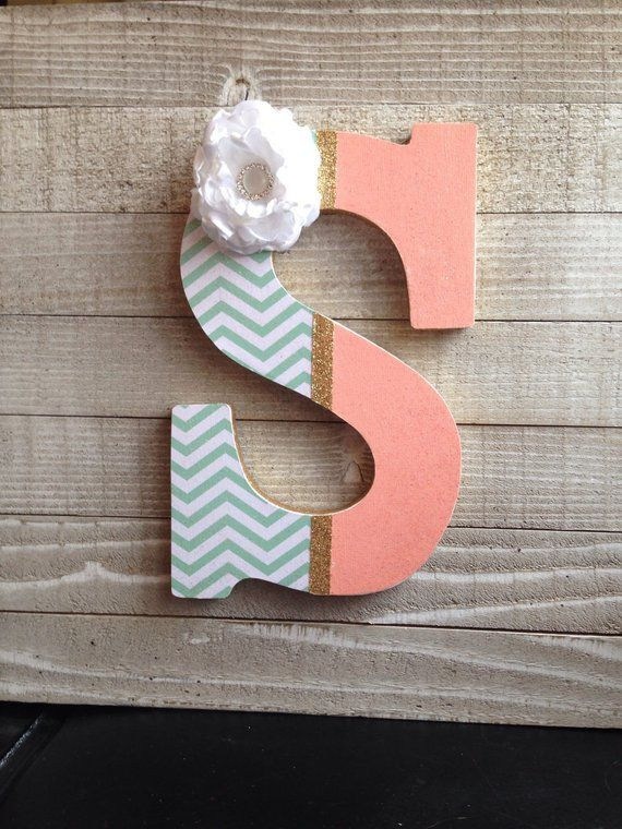 Decorative Letters Wood Letters For Wall Wall Letters Nursery