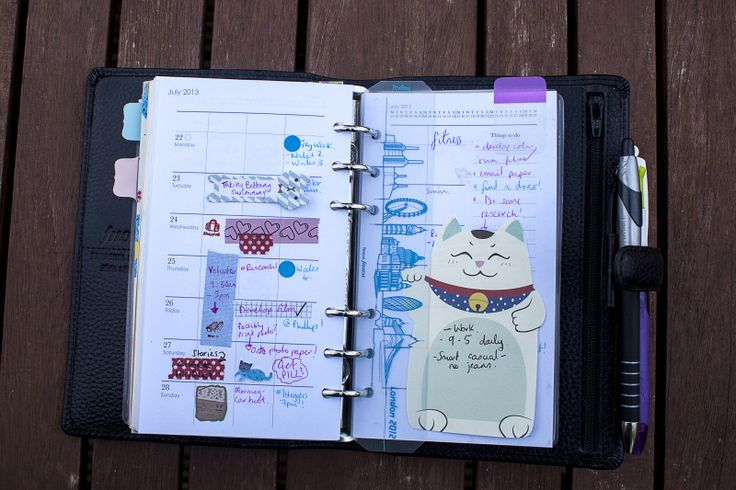 lifeofkitty: Slimming down the Filofax